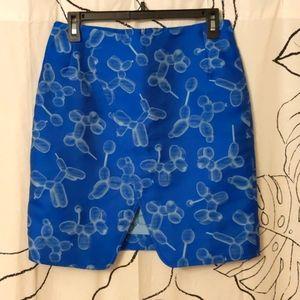 Balloon Dog Printed Mini Skirt